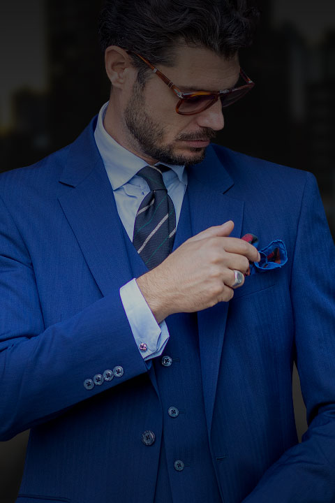 Dress Like You Mean It Three Piece Blue Custom Suit Nashville, Tennessee Knoxville, Tennessee